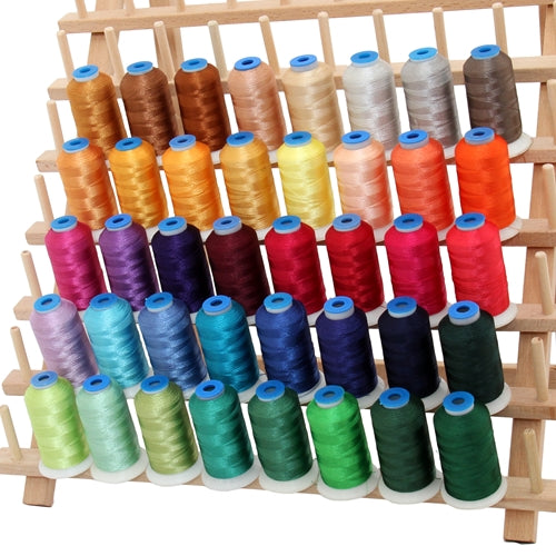 40 Cones of Rayon Thread - Jewel Colors Set B - 1000 Meters - Threadart.com