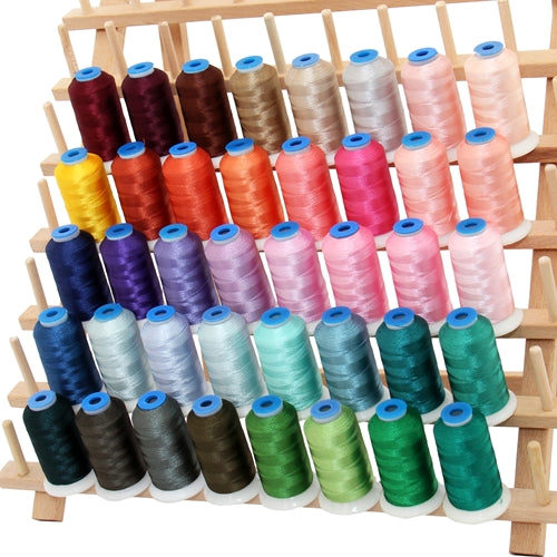 40 Colors of Rayon Thread - Vivid Colors Set C - 1000 Meters - Threadart.com