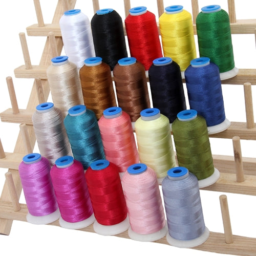 20 Colors of Rayon Thread - Essential Colors - Threadart.com