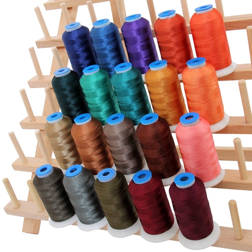 20 Colors of Rayon Thread - Dark Colors - Threadart.com