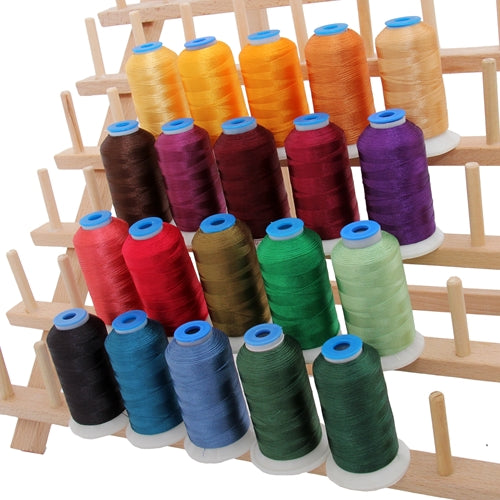 20 Colors of Rayon Thread Set - Bright Colors - Threadart.com