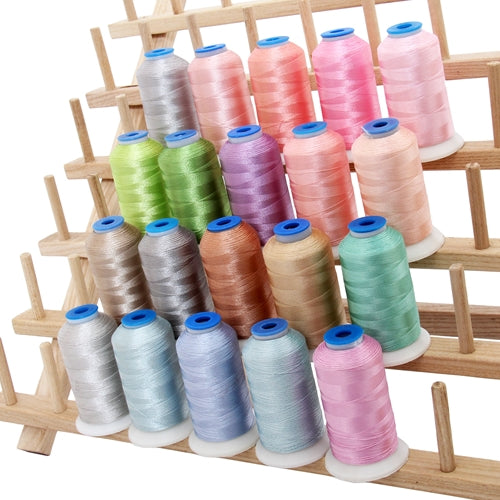 20 Colors of Rayon Thread -  Pastel Colors - Threadart.com