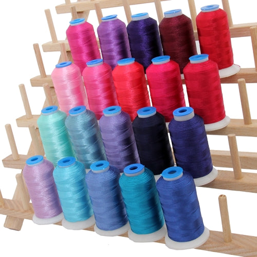 20 Colors of Rayon Thread -  Pink & Blue Colors - Threadart.com