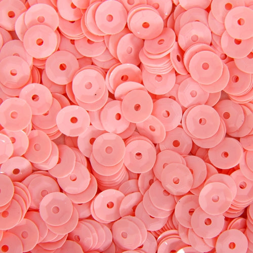 Loose Cup Pastel Sequins - 6mm - Pink - 5 Gross - Threadart.com