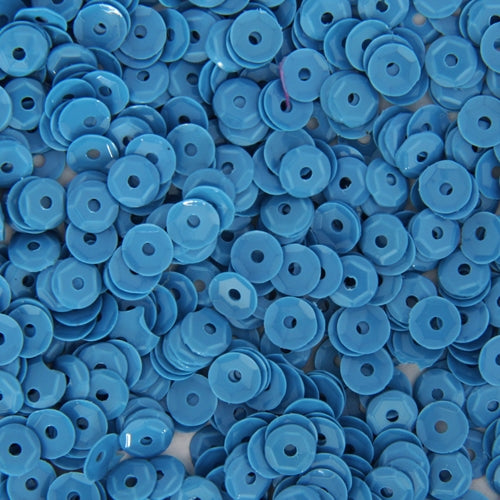 Loose Cup Neon Sequins - 4mm - Blue - 5 Gross - Threadart.com