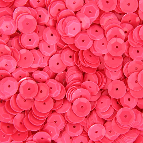 Loose Cup Neon Sequins - 6mm - Pink - 5 Gross - Threadart.com