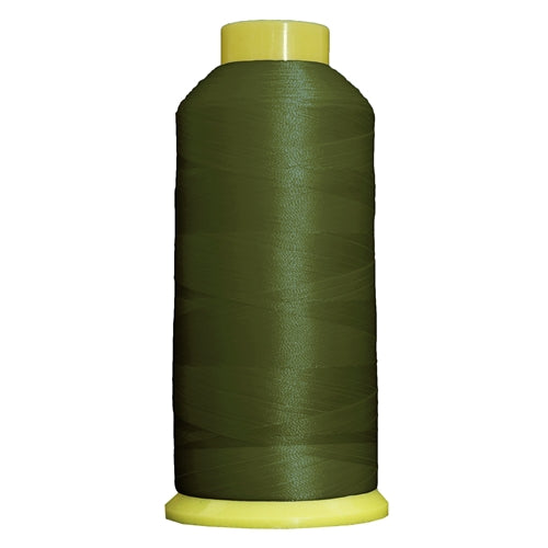 Large Polyester Embroidery Thread No. 223 - Dk Avocado - 5000 M - Threadart.com