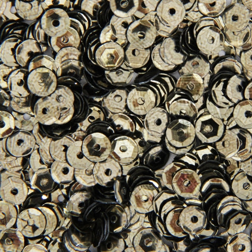 Loose Cup Metallic Sequins - 4mm - Pewter - 5 Gross - Threadart.com