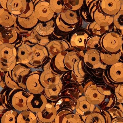 Loose Cup Metallic Sequins - 6mm - Brown - 5 Gross - Threadart.com