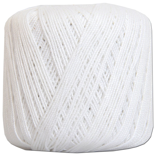 Cotton Crochet Thread - Size 3 - White- 140 yds - Threadart.com