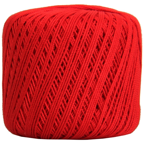 Cotton Crochet Thread - Size 3 - Red- 140 yds