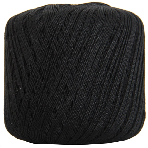 Cotton Crochet Thread - Size 3 - Black- 140 yds - Threadart.com