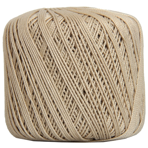 Cotton Crochet Thread - Size 3 - Tan- 140 yds