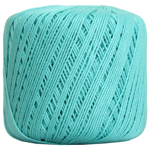 Cotton Crochet Thread - Size 3 - Aqua- 140 yds - Threadart.com