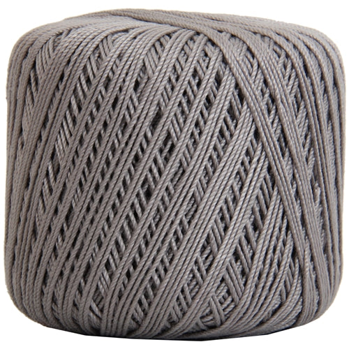 Cotton Crochet Thread - Size 3 - Grey- 140 yds - Threadart.com