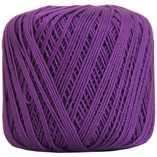 Cotton Crochet Thread - Size 3 - Purple- 140 yds - Threadart.com