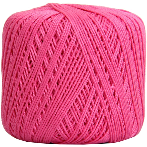 Cotton Crochet Thread - Size 3 - Hot Pink- 140 yds