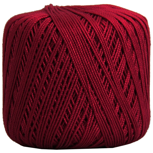 Cotton Crochet Thread - Size 3 - Burgundy- 140 yds