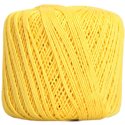 Cotton Crochet Thread - Size 3 - Yellow- 140 yds - Threadart.com