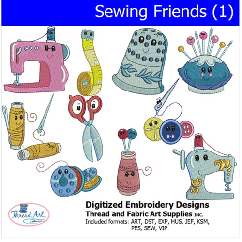 Machine Embroidery Designs - Sewing Friends(1) - Threadart.com
