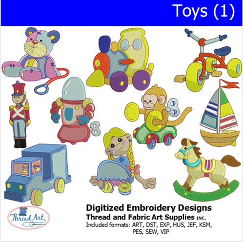 Machine Embroidery Designs - Toys(1) - Threadart.com