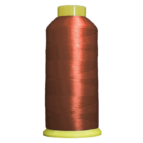 Large Polyester Embroidery Thread No. 318 - Brick - 5000 M - Threadart.com