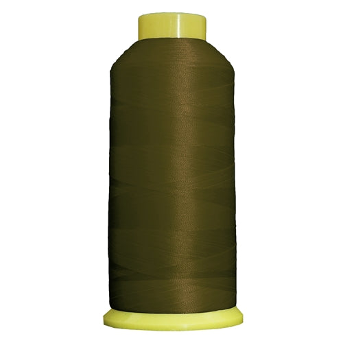 Large Polyester Embroidery Thread No. 340 - Olive - 5000 M - Threadart.com