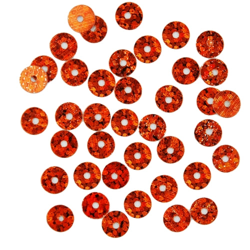 HotFix Loose Sequins - 6MM Orange Hologram - Threadart.com