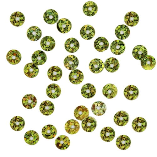 HotFix Loose Sequins - 6MM Lime Green Hologram - Threadart.com