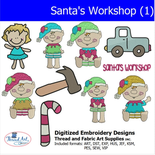 Machine Embroidery Designs - Santa's Workshop (1) - Threadart.com