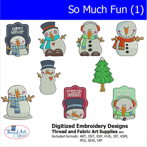Machine Embroidery Designs - Snow Much Fun(1) - Threadart.com