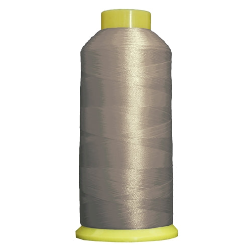 Large Polyester Embroidery Thread No. 414 - Silver Grey- 5000 M - Threadart.com