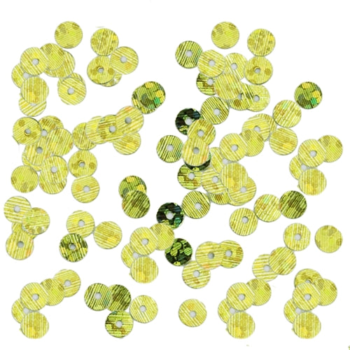 HotFix Loose Sequins - 4MM Lime Green Hologram - Threadart.com