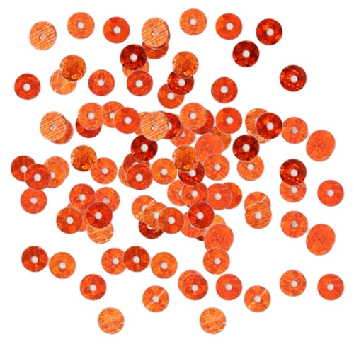 HotFix Loose Sequins - 4MM Orange Hologram - Threadart.com
