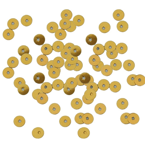 HotFix Loose Sequins - 4MM Gold Metallic - Threadart.com