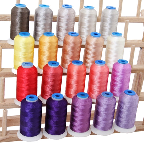 20 Colors of Polyester Embroidery Thread Set - Frosty Colors - Threadart.com