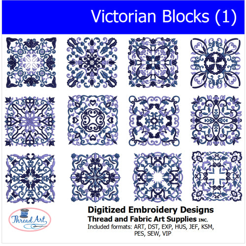 Machine Embroidery Designs - Victorian Blocks(1) - Threadart.com