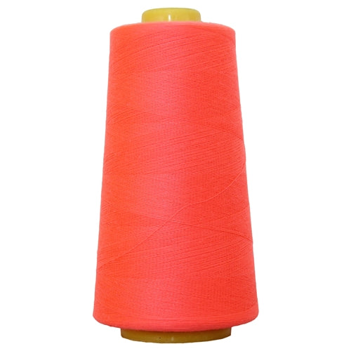 Polyester Serger Thread - Neon Coral 954 - 2750 Yards - Threadart.com