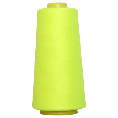 Polyester Serger Thread - Neon Yellow 823 - 2750 Yards - Threadart.com