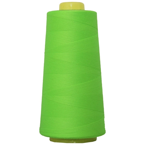 Polyester Serger Thread - Neon Green 950 - 2750 Yards - Threadart.com