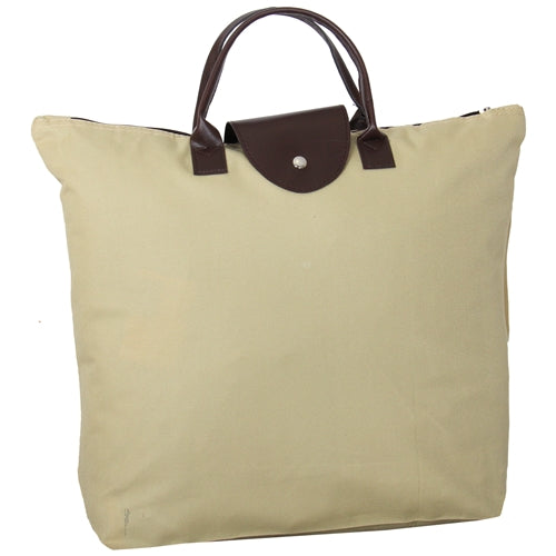 Foldable Shopping Bag Oxford - Beige - Threadart.com