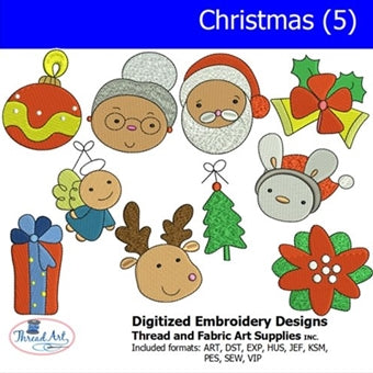 Machine Embroidery Designs - Christmas(5) - Threadart.com