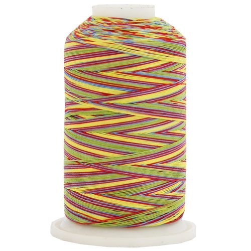 Multicolor Variegated Cotton Thread 600M - Carnival - Threadart.com