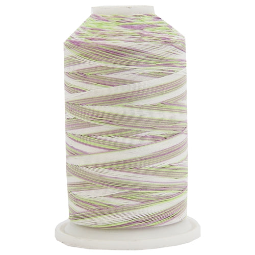 Multicolor Variegated Cotton Thread 600M - Violet Fields - Threadart.com