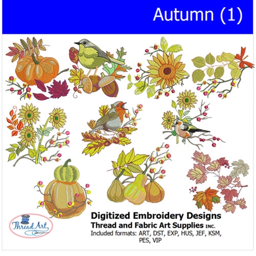 Machine Embroidery Designs - Autumn(1) - Threadart.com