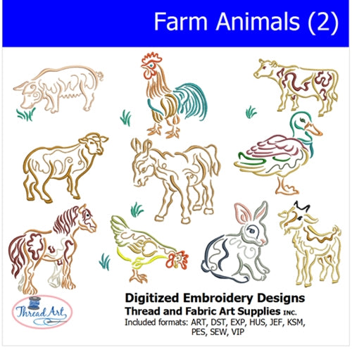 Machine Embroidery Designs - Farm Animals(2) - Threadart.com