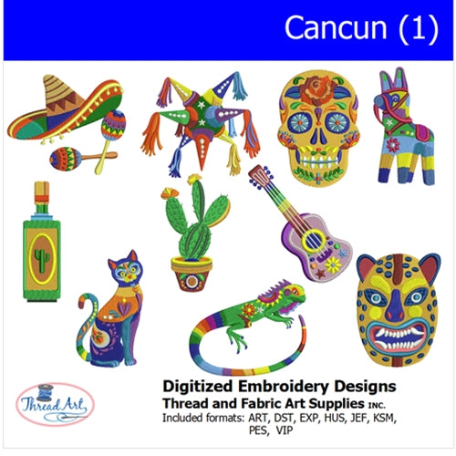 Machine Embroidery Designs - Cancun(1) - Threadart.com
