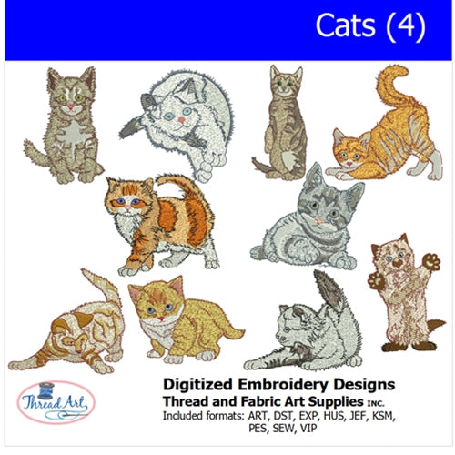 Machine Embroidery Designs - Cats(4) - Threadart.com