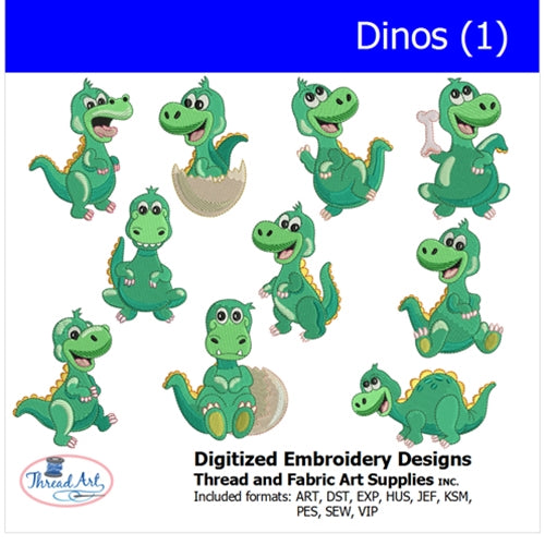 Machine Embroidery Designs - Dinos(1) - Threadart.com