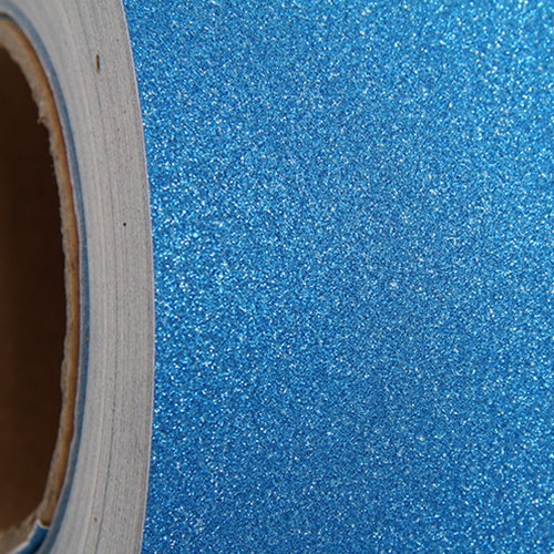 "Glitter Blue Self Adhesive Sign Vinyl 12"" x 36"" - By The Yard - Threadart.com"